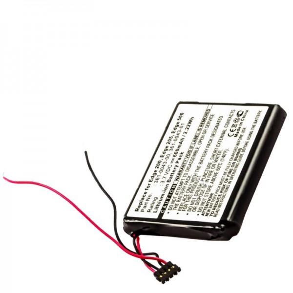 AccuCell-batterij geschikt voor Garmin Edge 200, Edge 205, Edge 500