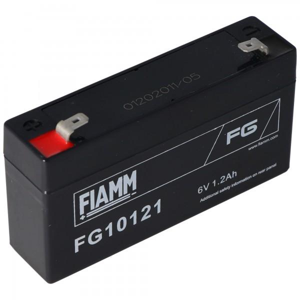 Fiamm FG10121 loodgelaccu 6 volt, 1,2 Ah