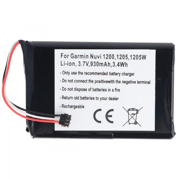 AccuCell-batterij geschikt voor Garmin Nuvi 1200, 361-00035-01