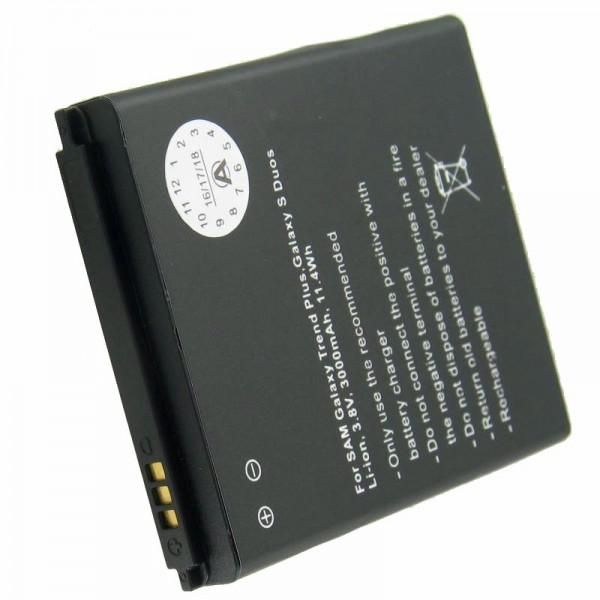 Batterij alleen geschikt voor de Samsung Galaxy ACE 2, GT-I8160 batterij 3000 mah met extra deksel in wit en donkerblauw