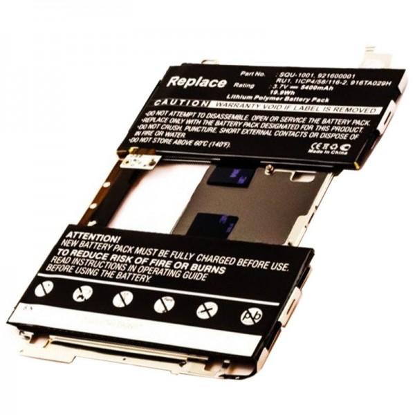 Batterij geschikt voor de BLACKBERRY Playbook-batterij 1ICP4 / 58 / 116-2, 916TA029H, 921600001, RU1, SQU-1001