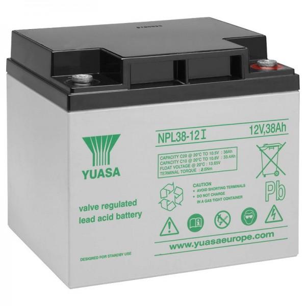 Yuasa NPL38-12I loodbatterij 12 volt, 38Ah met M5-aansluiting