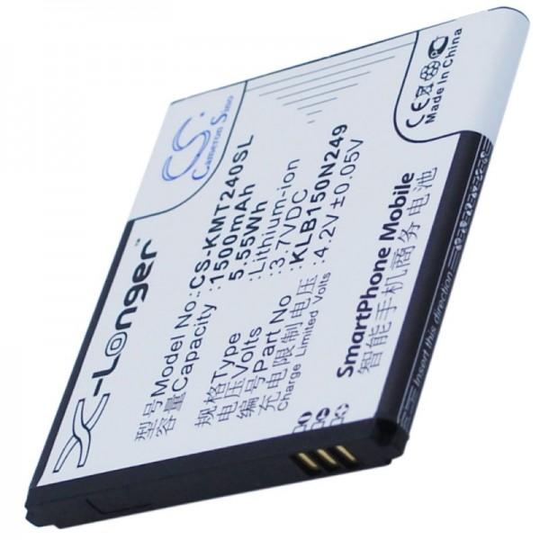 Accu geschikt voor Kazam Trooper 2 4.0, KLB150N249 3,7 volt 1500mAh