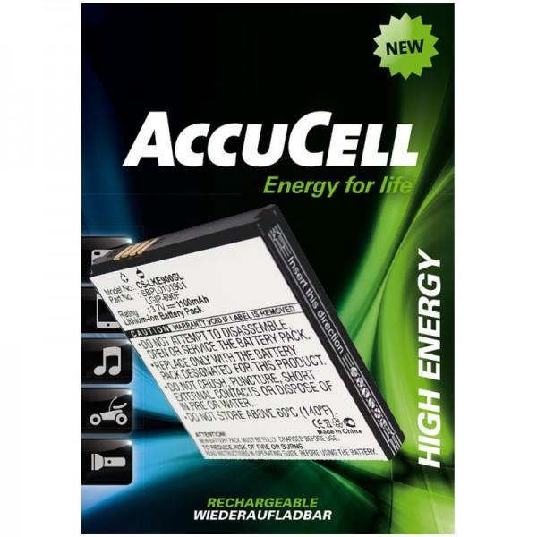 AccuCell-batterij geschikt voor LG Optimus 7, E900, C900, LGIP-690F