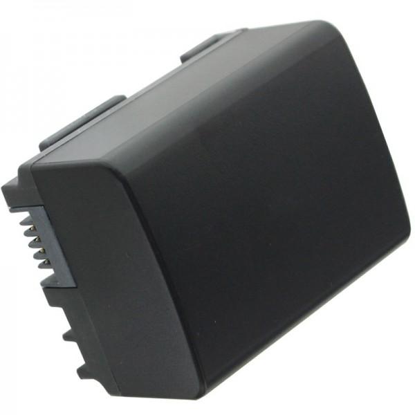 AccuCell-batterij geschikt voor Canon BP-808 met resterende minuten