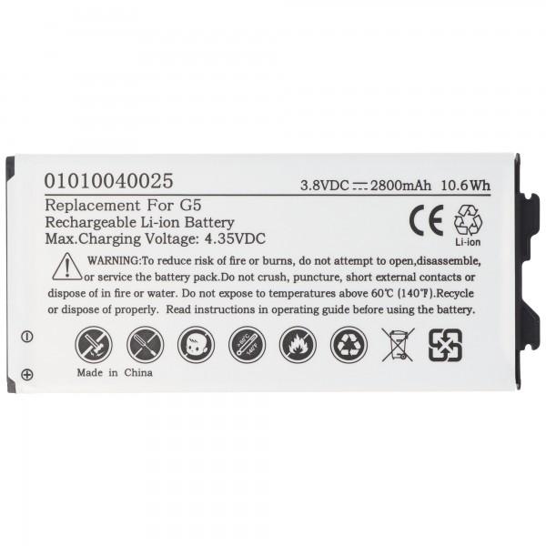 Batterij geschikt voor de LG G5 batterij BL-42D1F, EAC63238902AAC