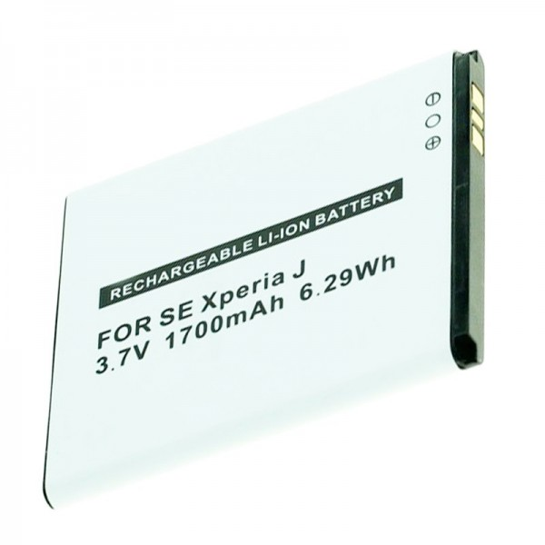 AccuCell-batterij geschikt voor Sony Ericsson Handy BA900, Xperia J, GX, T, TX 1700mAh