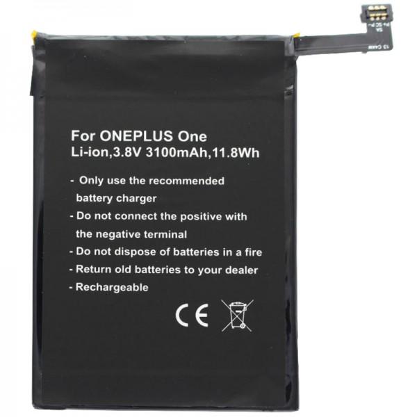 Batterij geschikt voor de ONEPLUS One batterij A0001, One, BLP571 batterij
