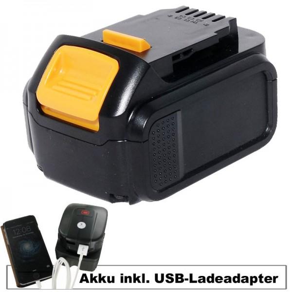Batterij en USB-laadadapter geschikt voor Dewalt-batterij DCB140, DCB141-XJ, DCB143-XJ, DCB145