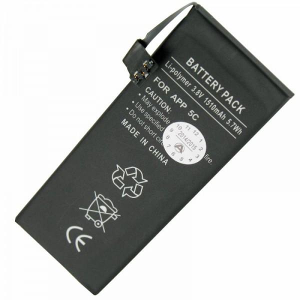 Batterij geschikt voor Apple iPhone 5C Li-Polymer 616-0667 batterij, 616-0720 batterij