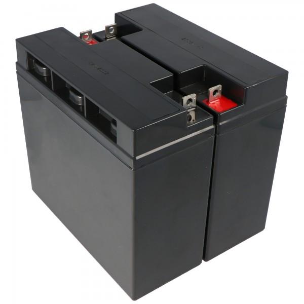 Batterij geschikt voor de APC RBC7 batterij voor zelfconversie, 12 volt, 18000 mAh