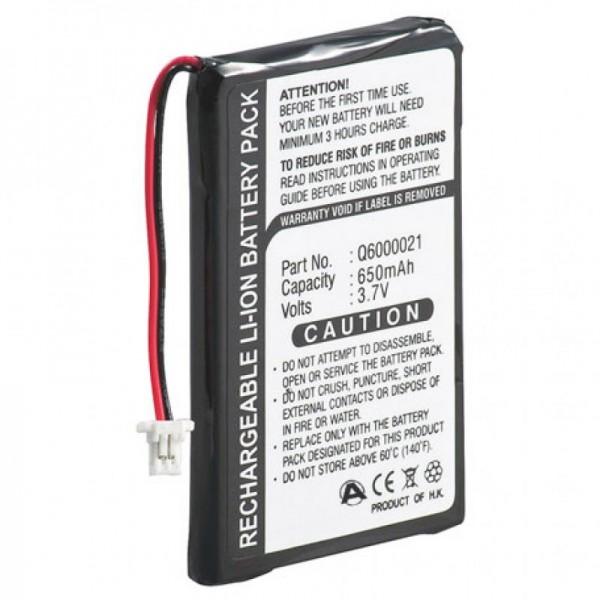 Batterij geschikt voor TomTom GPS-9821X, Q6000021, 550mAh