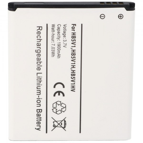 Accu geschikt voor Huawei Ascend T8833, U8833, W1, Y300, Y360, Y500 met 1800mAh