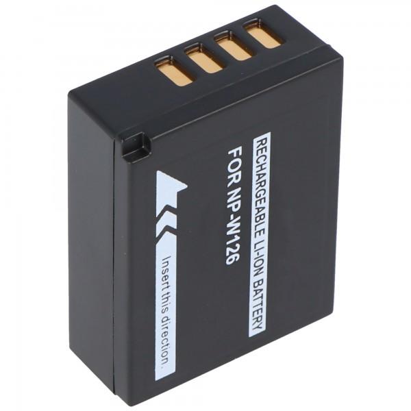 AccuCell-batterij geschikt voor Fujifilm NP-W126, X-Pro 1, FinePix HS3