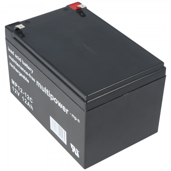 Multipower MP12-12C loodbatterij 12 volt 12 Ah cyclusbestendig, cyclus