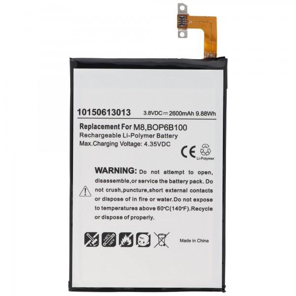 AccuCell-batterij geschikt voor de HTC One M8-batterij 35H00214-00M, 35H00214-01M, B0P6B100, BOP6B100, M8S