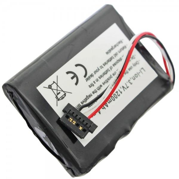 AccuCell-batterij geschikt voor Mitac Mio P350, P550, BP-LP1230