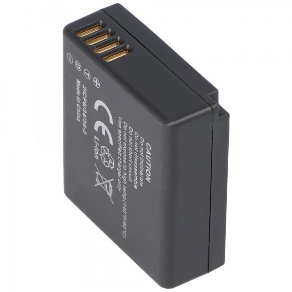 Batterij geschikt voor Panasonic DMW-BLE9, LUMIX DMC-GF3, DMC-S6-serie