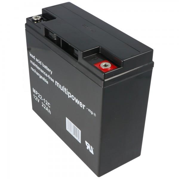Yuasa YPC22-12 loodbatterij met 12 volt en 22Ah