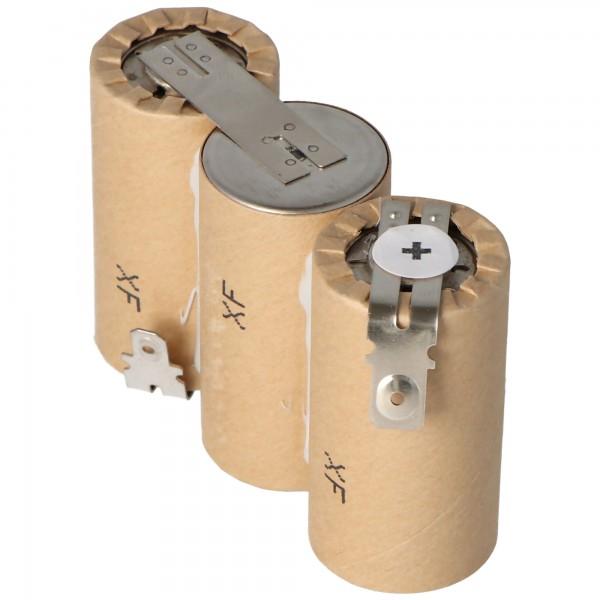 Accu geschikt voor Gardena ACCU60 met Faston 6.3 en 4.8mm, 2500mAh