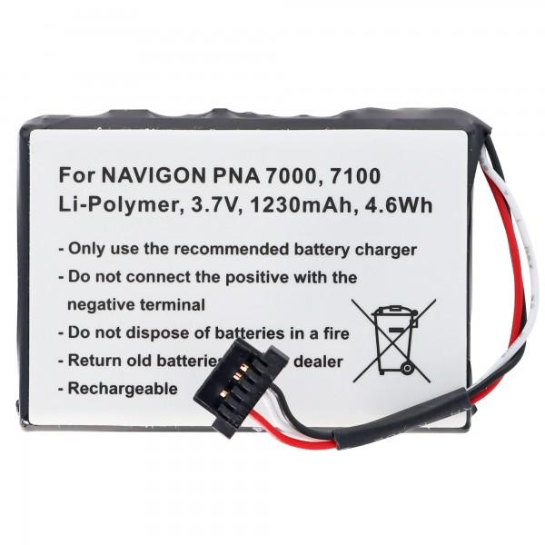 Batterij geschikt voor de Becker Active 43 Talk batterij 541380530006, Becker Ready 70 LMU batterij Revo 1