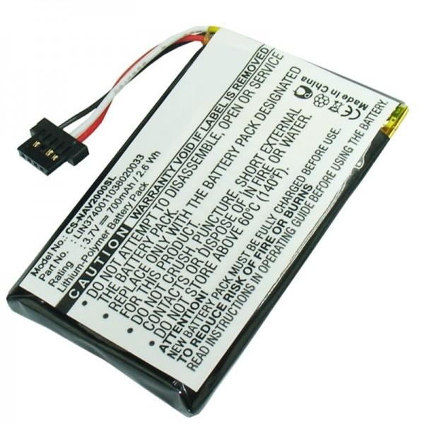 Navigon 20 Easy, 20 Plus-batterij als vervangende batterij van AccuCell-batterij LIN3740011038020033