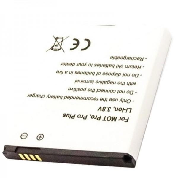 Batterij geschikt voor de Motorola HP6X batterij Motorola Pro, Pro Plus, Pro +, XT685