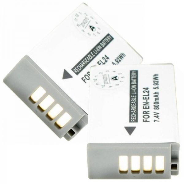 Batterij geschikt voor Nikon EN-EL24 2-pack EN-EL24 batterij voor Nikon 1 J5