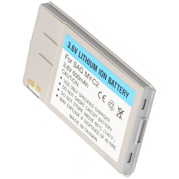 AccuCell-batterij geschikt voor Sagem myC-2, 600 mAh zilver