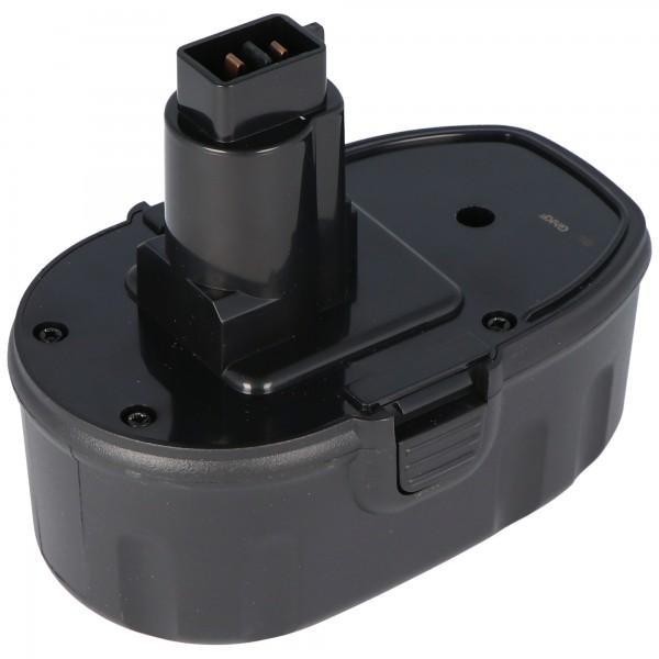 AccuCell-batterij geschikt voor Dewalt DW9095 18 volt 3,0 Ah NiMH-batterij