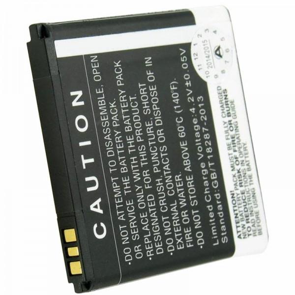 Batterij geschikt voor de Prestigio Multiphone 4322 Duo batterij PAP4322 DUO