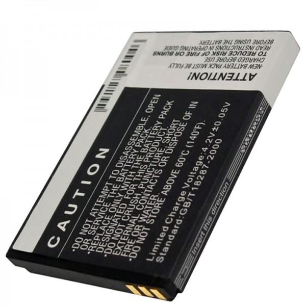 Bea-Fon S10 batterij, replica batterij met 1000 mAh capaciteit van AccuCell