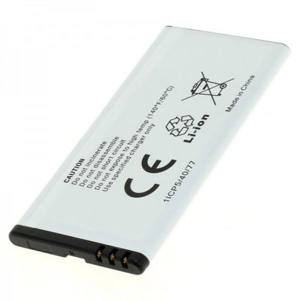 Batterij geschikt voor de Nokia Lumia BV-T5A oplaadbare batterij van AccuCell