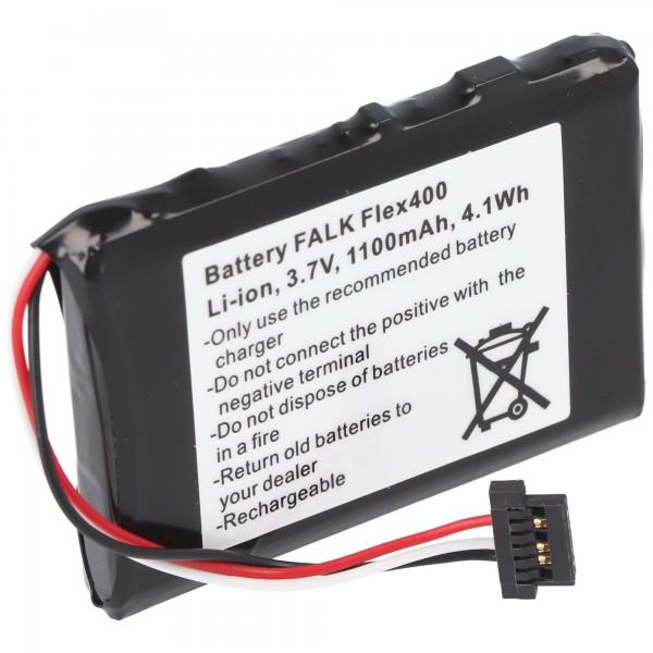 Batterij geschikt voor Falk Flex 400 batterij BP-400H-11 / 1200MX