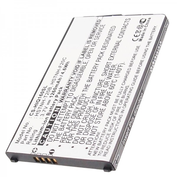 AccuCell-batterij geschikt voor de batterij van de mobiele telefoon HP iPAQ Voice Messenger, HP Silver-batterij