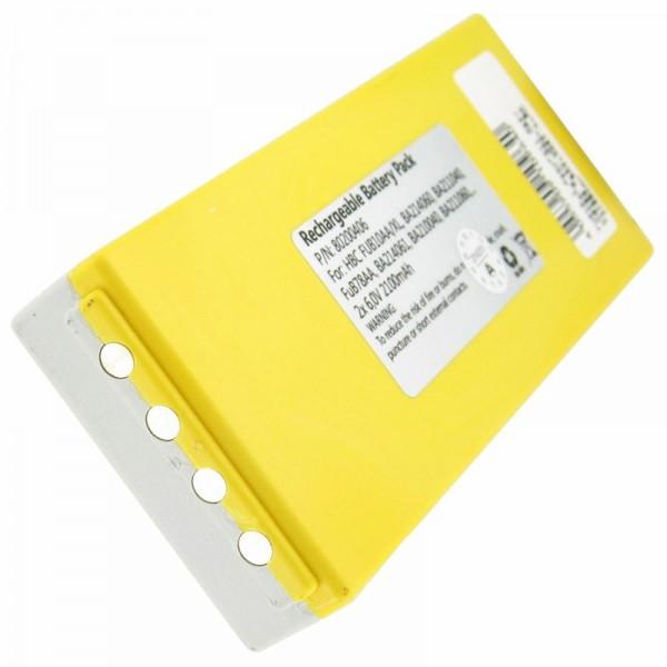 Batterij geschikt voor de HBC FuB10a batterij NM26C, BA211060, BA214061 NiMH 2200mAh 2x 6 volt