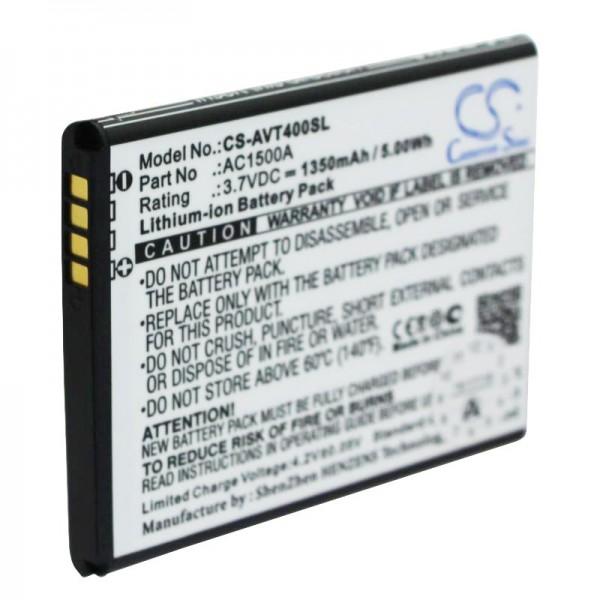 ARCHOS 40 Titanium batterij AC1500A Li-ion 3,7 volt met 1350 mAh, 5,0 Wh