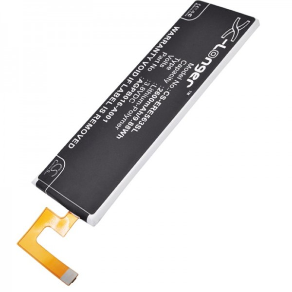 Accu geschikt voor Sony Ericsson Xperia M5, AGPB016-A001 3.8 volt 2600mAh