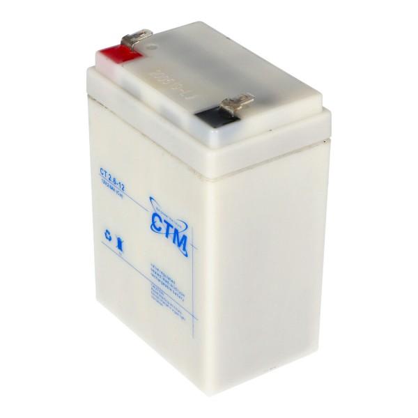 CTM 2.6-12 batterij PB-kabel MP2.2-12D, MP2.2-12D, RLl1226, 6FM2.6 geschikt voor vele toepassingsgebieden