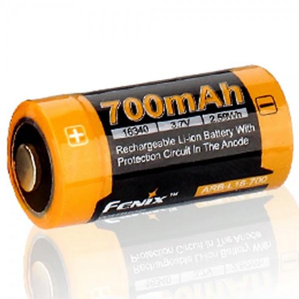 B-stock, CR123 A Li-ionbatterij 16340 met 3,7 volt, min. 700 mAh, meestal 760 mAh, max. 820 mAh, 35x16 mm capaciteit met AkkuShop-transportdoos
