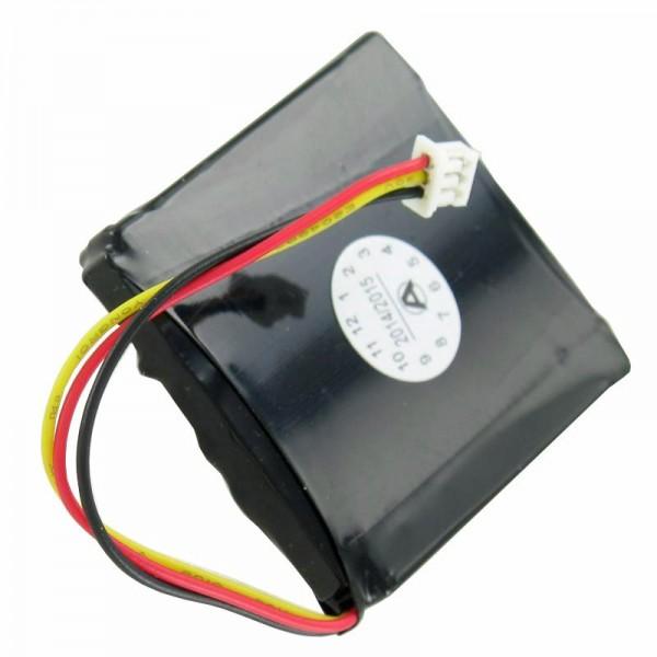 Batterij geschikt voor de TOMTOM 1EX00 batterij, START2, START, EASY, 4EX0.001.11