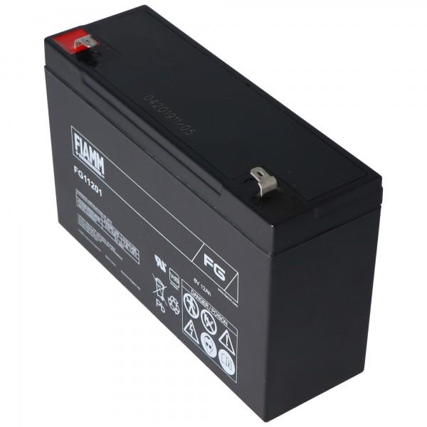 Fiamm FG11201 loodbatterij 6 volt 12Ah