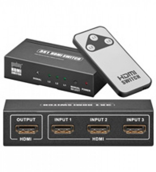 HDMI schakelkast met 3x input / 1x output