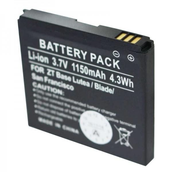 AccuCell-batterij geschikt voor ZTE Base Lutea, ZTE Blade, F952