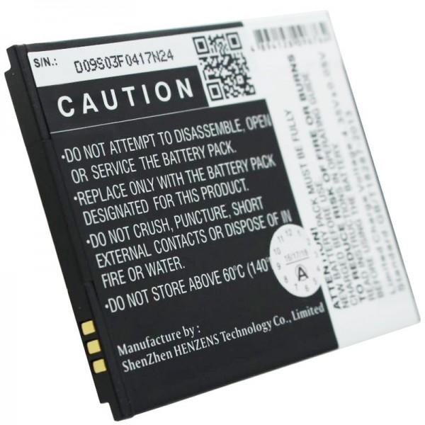 MOBISTEL Cynus F6-batterij als replica van Accucell geschikt voor BTY26188