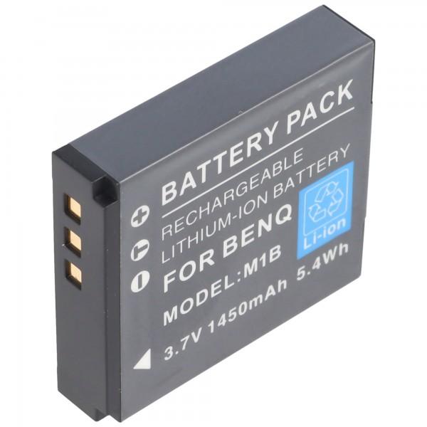 Praktica DVC 10.1 HDMI-batterij van AccuCell met 3,7 volt, 1250 mAh
