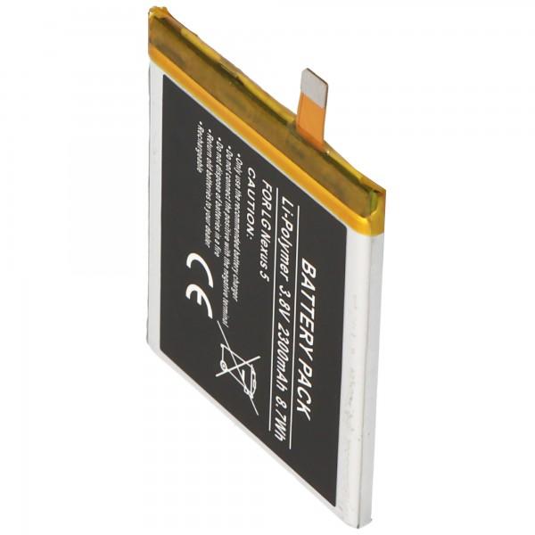 Accu geschikt voor LG Nexus 5, BL-T9, LG D820, D821 2300mAh Li-Polymer batterij