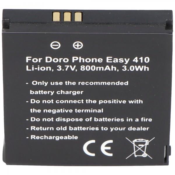 Doro PhoneEasy 410 batterij, Doro Phone Easy 610 batterij, SHELL01A clamshell voor batterijverzorging