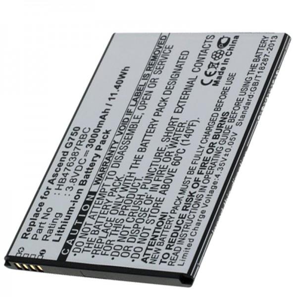 Accu geschikt voor Huawei Ascend G750 batterij G750-T00, B199, Glory 4, Honor 3X