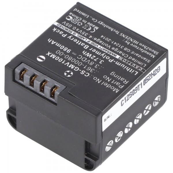 Batterij geschikt voor Garmin VIRB XE batterij 010-12256-01, 361-00080-00, GMICP902624